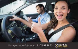 Zoom sur la grille pour le permis de conduire